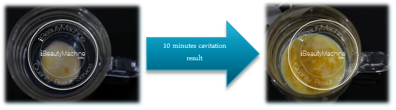 Cavitation effect on egg yolk