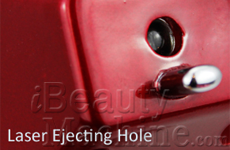 Laser ejecting hole